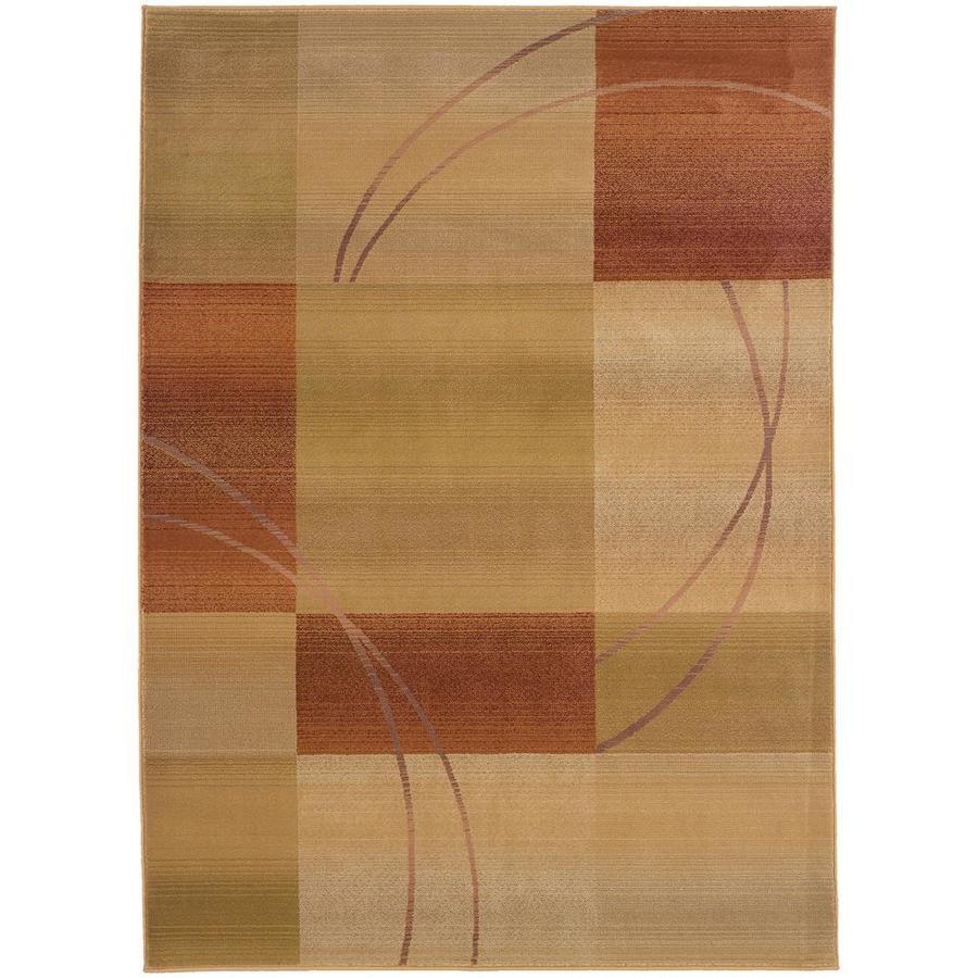 Archer Lane Fahm Beige Indoor Area Rug (Common: 5 x 8; Actual: 5.25-ft W x 7.5-ft L)