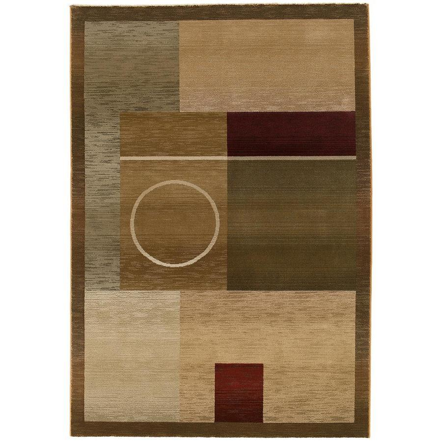 Archer Lane Hackney Green Rectangular Indoor Machine-Made Area Rug (Common: 5 x 8; Actual: 5.25-ft W x 7.5-ft L)