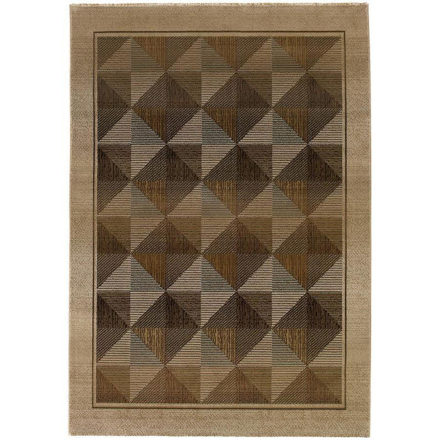 Archer Lane Jaeger Beige Rectangular Indoor Machine-Made Area Rug (Common: 5 x 8; Actual: 5.25-ft W x 7.5-ft L)