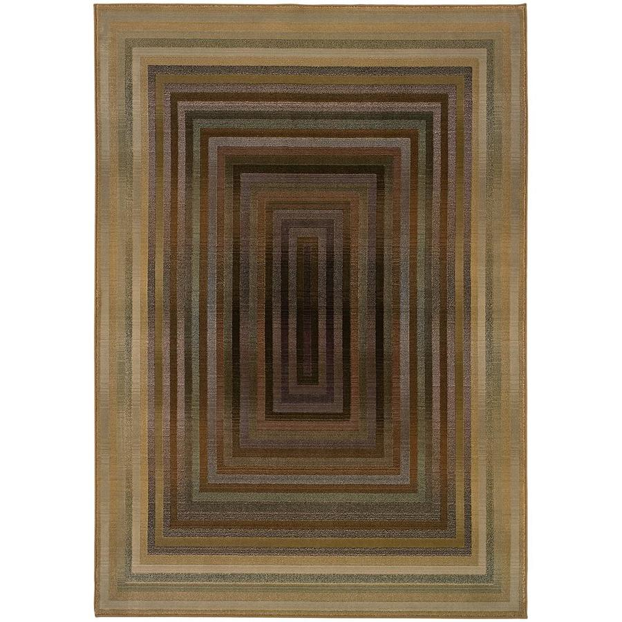 Archer Lane Kaiser Beige Rectangular Indoor Machine-Made Area Rug (Common: 5 x 8; Actual: 5.25-ft W x 7.5-ft L)