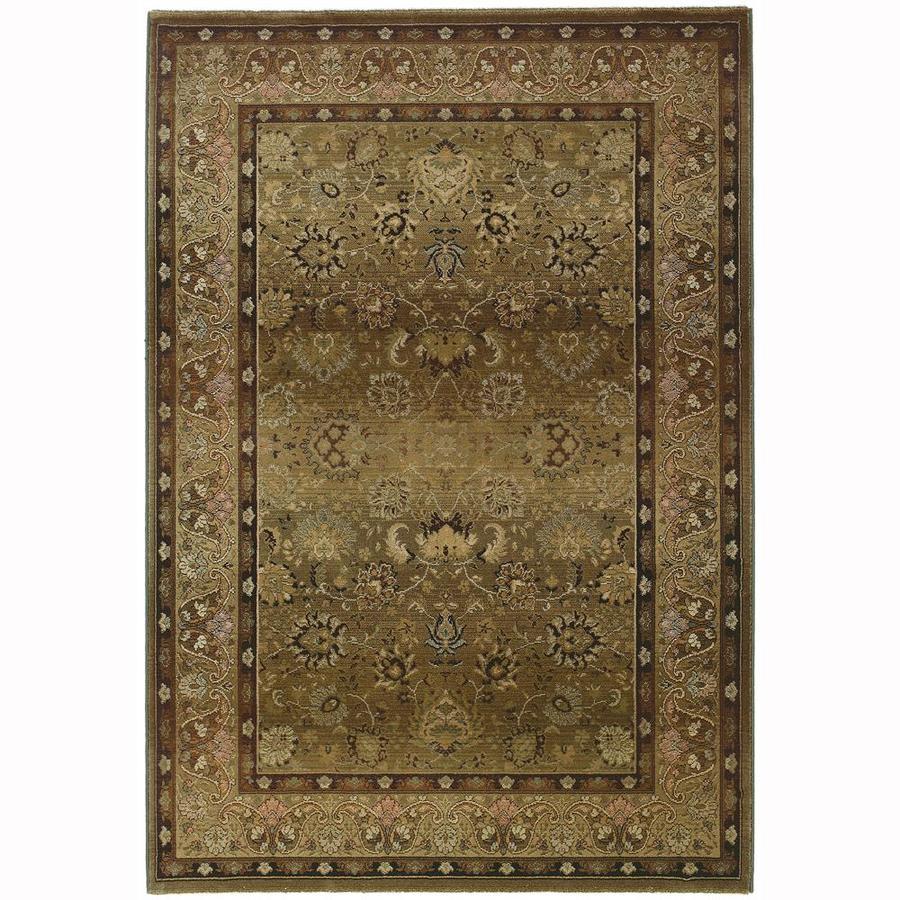 Archer Lane Laddsburg Beige Rectangular Indoor Machine-Made Oriental Area Rug (Common: 4 x 6; Actual: 4-ft W x 5.75-ft L)