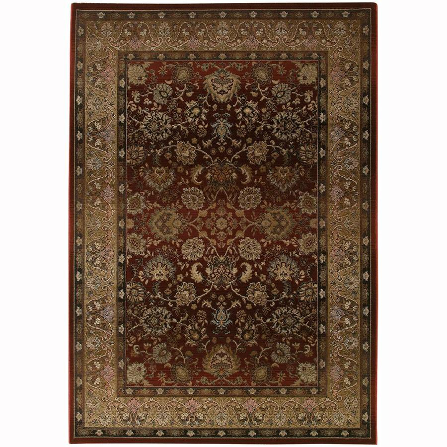 Archer Lane Laddsburg Red Indoor Oriental Area Rug (Common: 10 x 13; Actual: 10-ft W x 12.17-ft L)