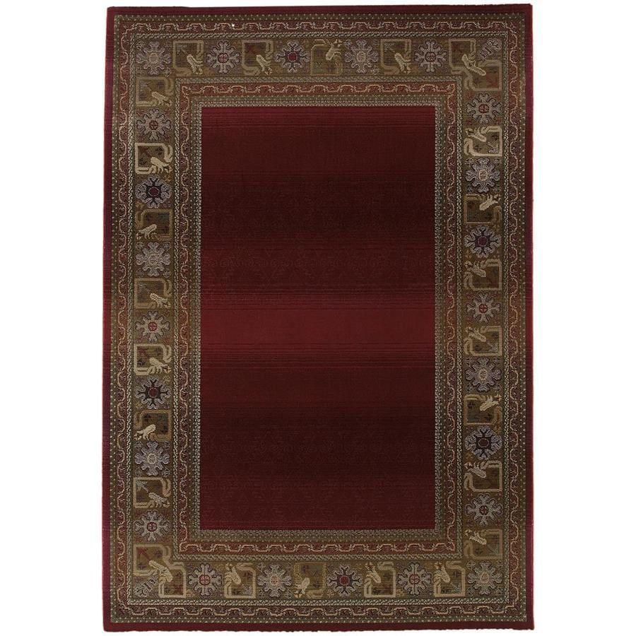 Archer Lane Nancia Red Indoor Area Rug (Common: 4 x 6; Actual: 4-ft W x 5.75-ft L)