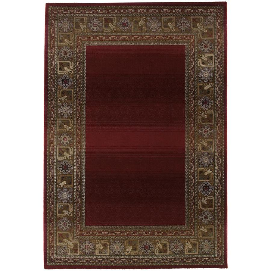 Archer Lane Nancia Red Indoor Area Rug (Common: 7 x 9; Actual: 6.58-ft W x 9.08-ft L)