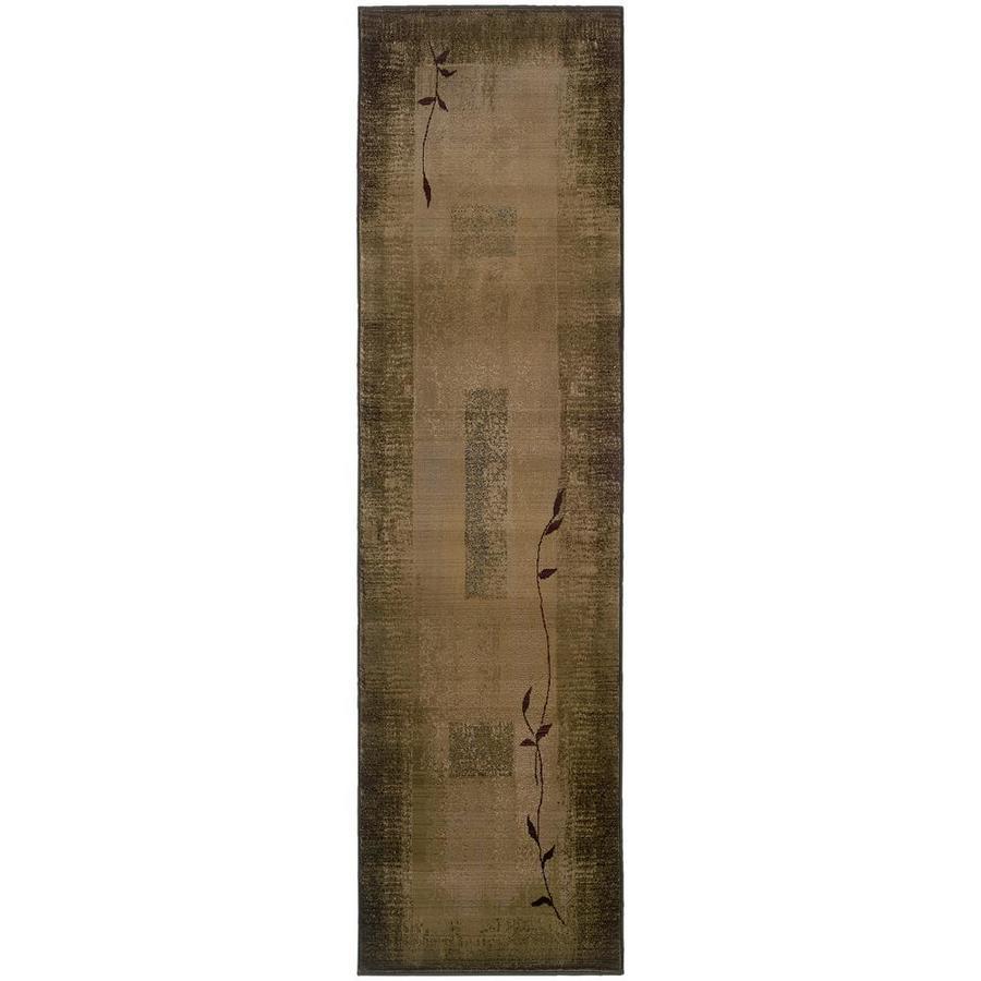 Archer Lane Oasis Green Indoor Runner (Common: 2 x 8; Actual: 2.25-ft W x 7.5-ft L)