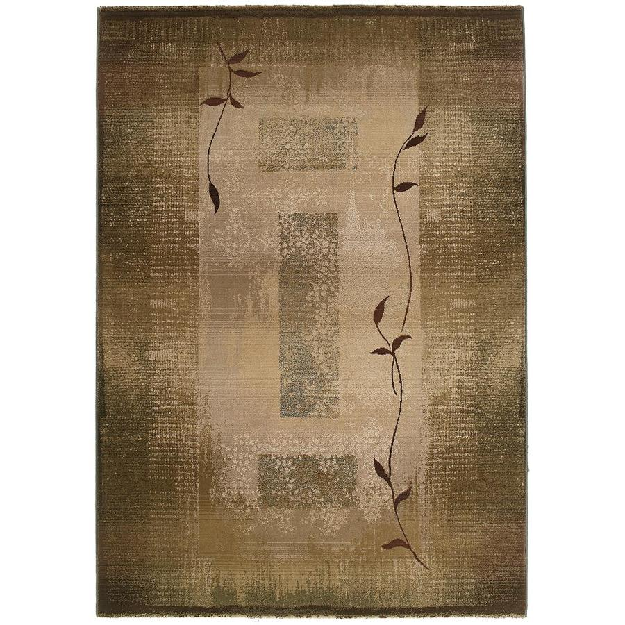 Archer Lane Oasis Green Indoor Area Rug (Common: 4 x 6; Actual: 4-ft W x 5.75-ft L)