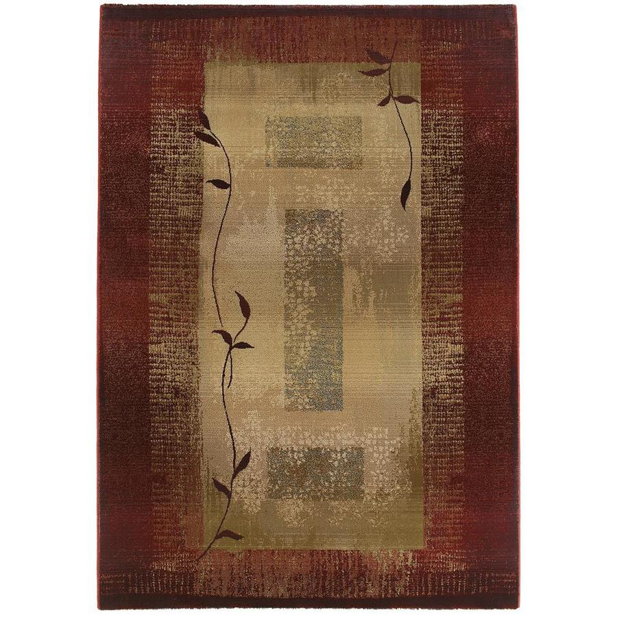 Archer Lane Oasis Red Indoor Area Rug (Common: 10 x 13; Actual: 10-ft W x 12.17-ft L)
