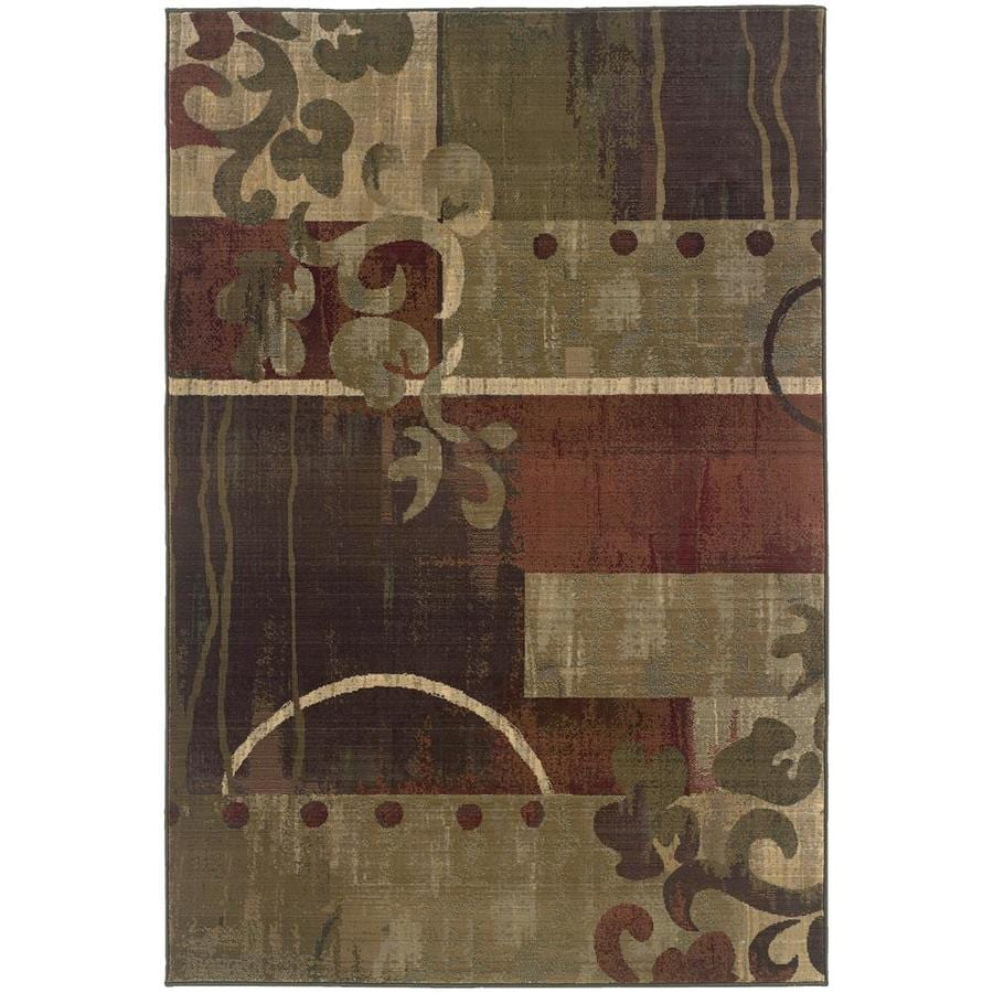 Archer Lane Sablewood Green Indoor Area Rug (Common: 10 x 13; Actual: 10-ft W x 12.17-ft L)
