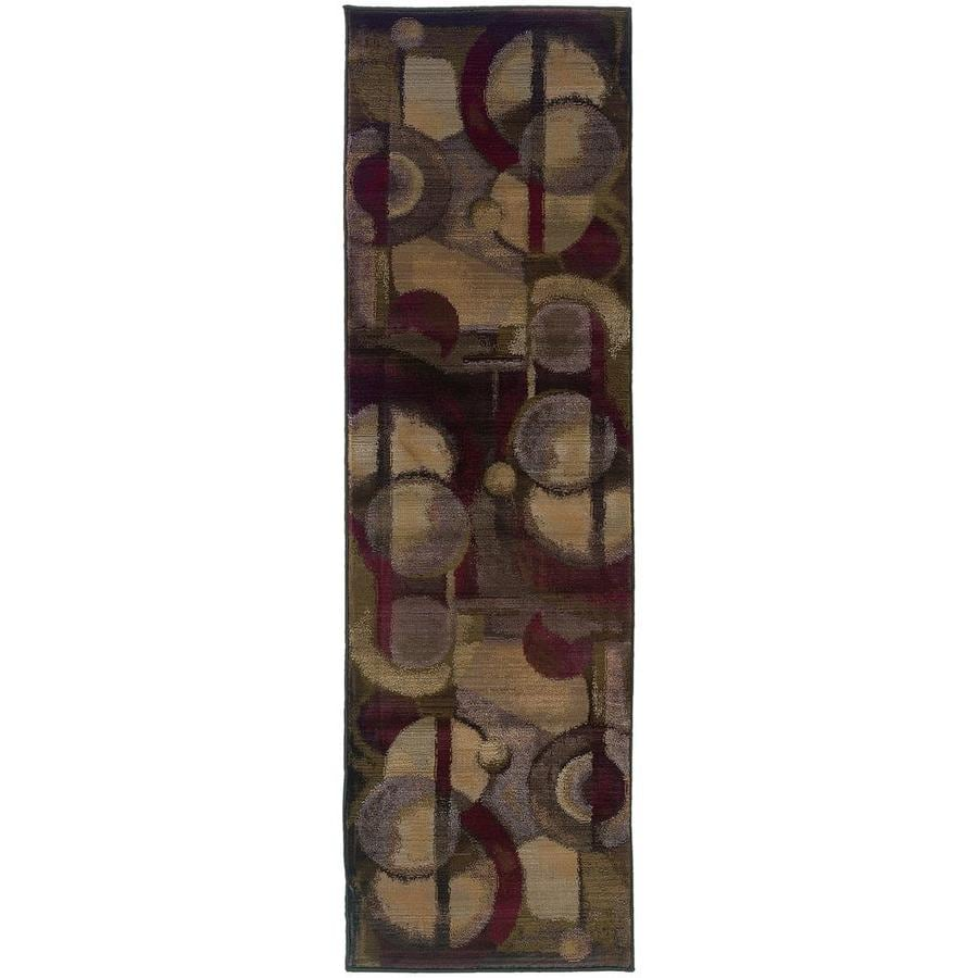 Archer Lane Tabora Purple Rectangular Indoor Machine-Made Runner (Common: 2 x 8; Actual: 2.25-ft W x 7.5-ft L)