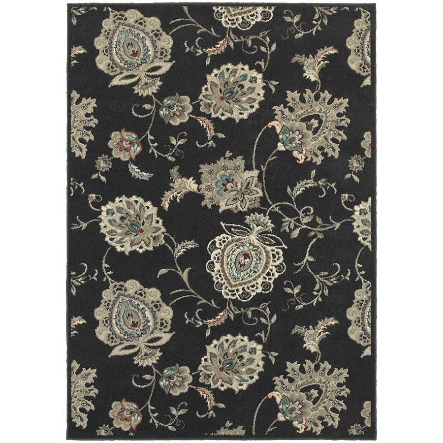 Archer Lane Abeel Midnight Indoor Area Rug (Common: 5 x 8; Actual: 5.25-ft W x 7.5-ft L)
