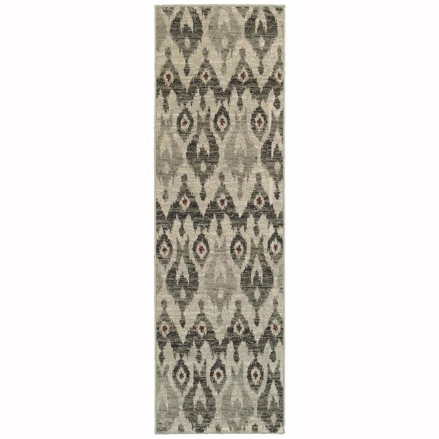 Archer Lane Bagwell Ivory Rectangular Indoor Machine-Made Runner (Common: 2 x 8; Actual: 2.25-ft W x 7.5-ft L)