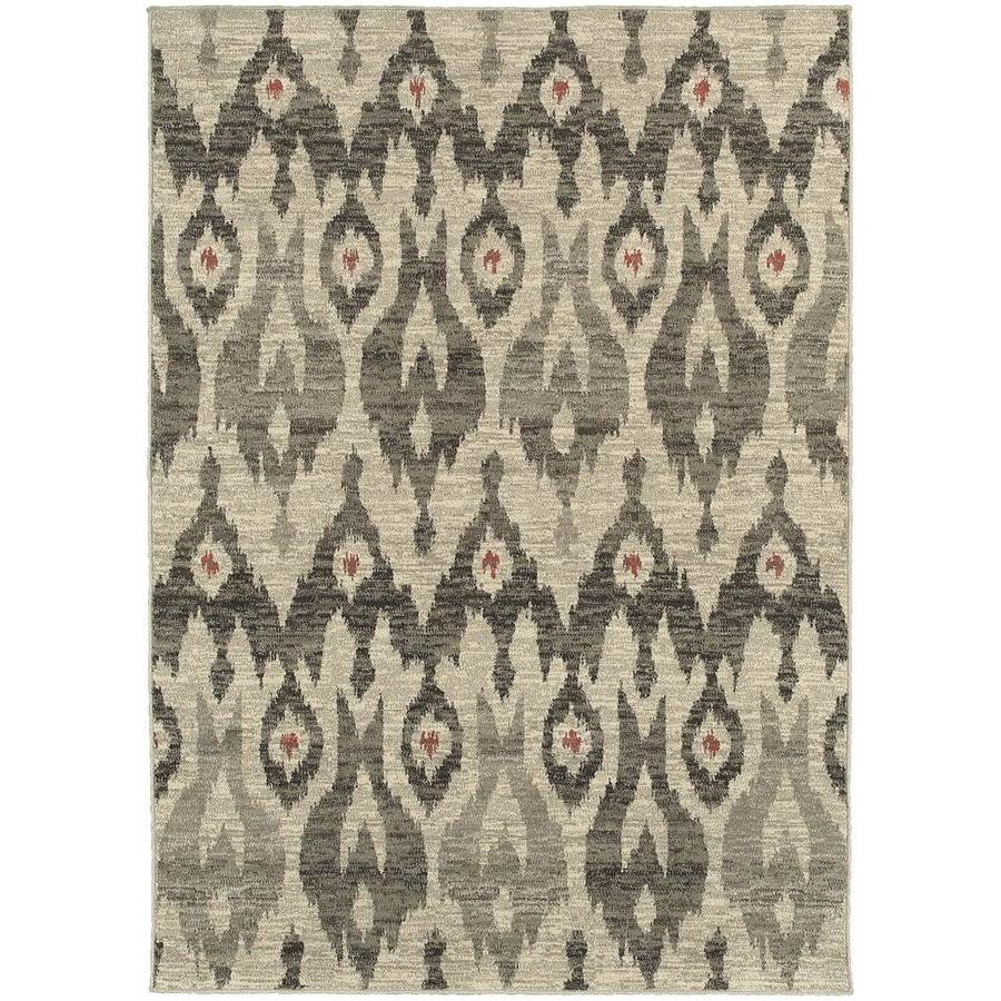 Archer Lane Bagwell Ivory Indoor Area Rug (Common: 5 x 8; Actual: 5.25-ft W x 7.5-ft L)