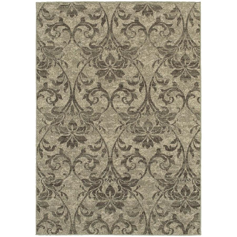 Archer Lane Dailey Gray Rectangular Indoor Machine-Made Area Rug (Common: 4 x 6; Actual: 3.83-ft W x 5.42-ft L)