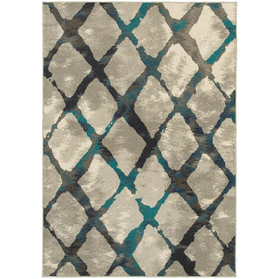 Archer Lane Early Gray Rectangular Indoor Machine-Made Area Rug (Common: 5 X 8; Actual: 5.25-ft W x 7.5-ft L)