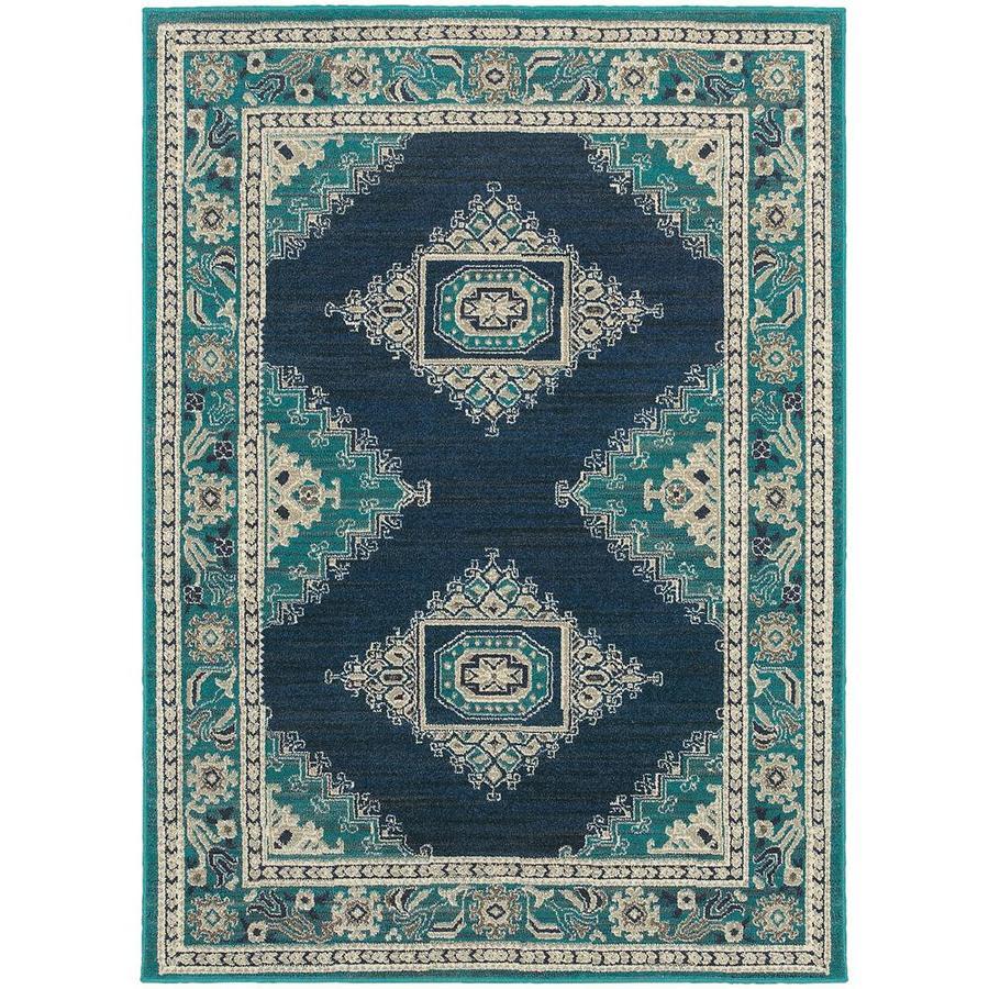 Archer Lane Hadden Blue Indoor Area Rug (Common: 10 x 13; Actual: 9.5-ft W x 12.83-ft L)