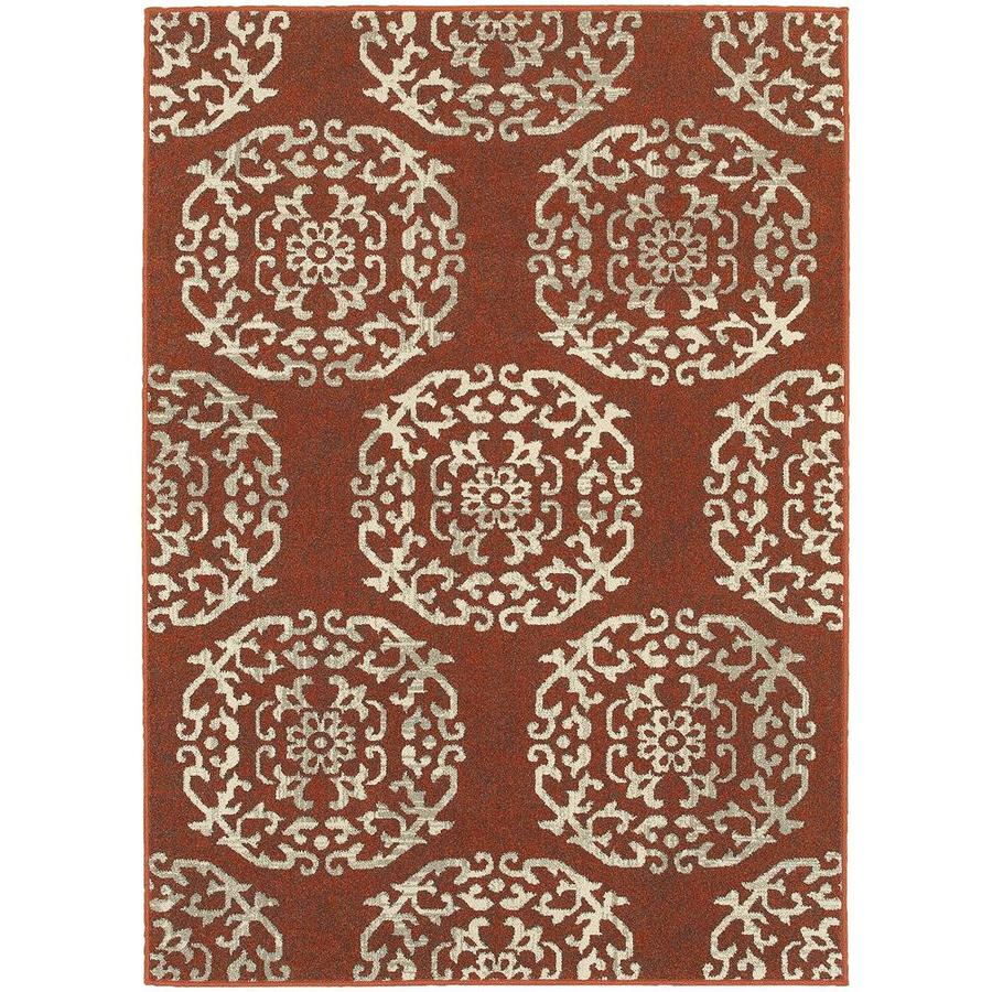 Archer Lane Idelwood Red Rectangular Indoor Machine-Made Area Rug (Common: 8 x 11; Actual: 7.83-ft W x 10.83-ft L)