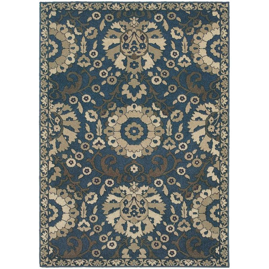 Archer Lane Kanabe Midnight Rectangular Indoor Machine-Made Area Rug (Common: 4 x 6; Actual: 3.83-ft W x 5.42-ft L)