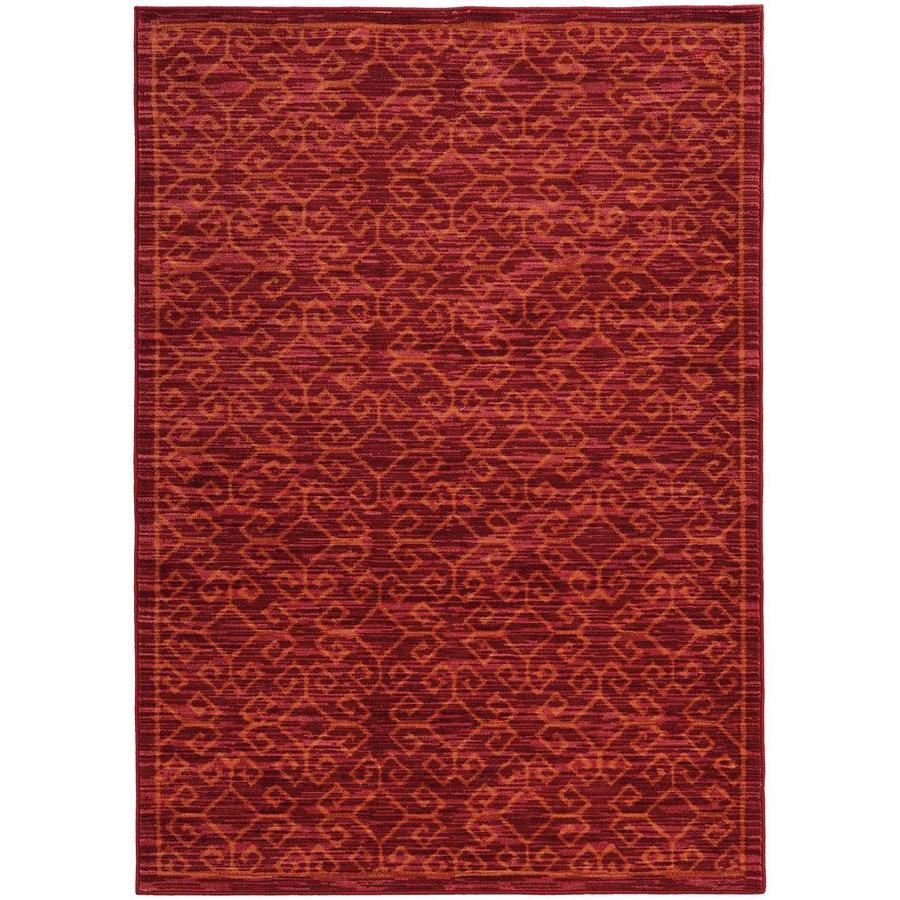 Archer Lane Abelia Red Indoor Area Rug (Common: 8 x 11; Actual: 7.83-ft W x 10.83-ft L)