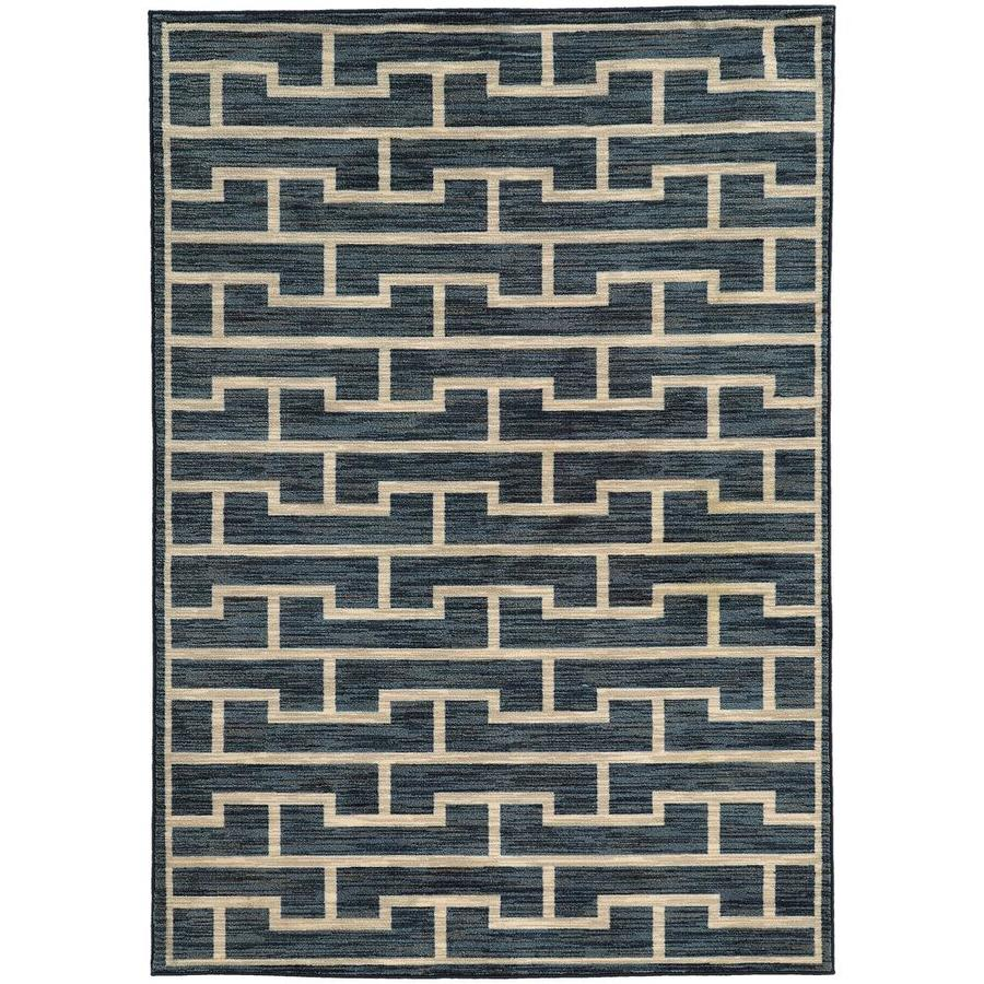 Archer Lane Bailey Blue Rectangular Indoor Machine-Made Area Rug (Common: 7 x 10; Actual: 6.58-ft W x 9.5-ft L)