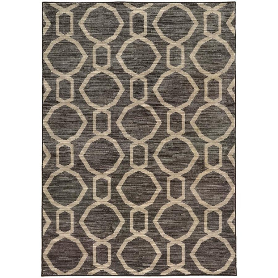 Archer Lane Caffey Gray Rectangular Indoor Machine-Made Area Rug (Common: 5 X 8; Actual: 5.25-ft W x 7.5-ft L)