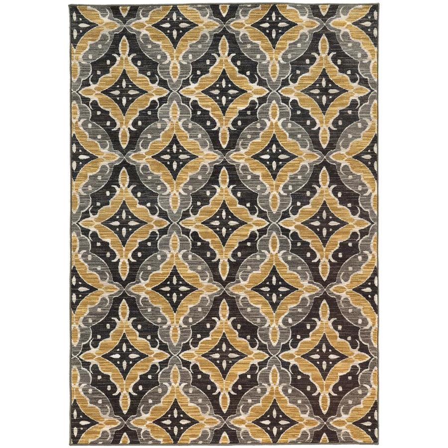 Archer Lane Daleview Charcoal Indoor Area Rug (Common: 5 x 8; Actual: 5.25-ft W x 7.5-ft L)