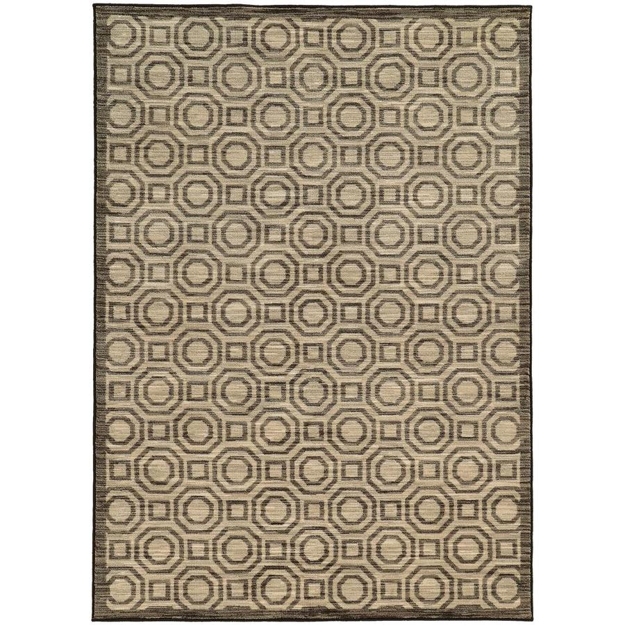 Archer Lane Eason Charcoal Rectangular Indoor Machine-Made Area Rug (Common: 5 X 8; Actual: 5.25-ft W x 7.5-ft L)