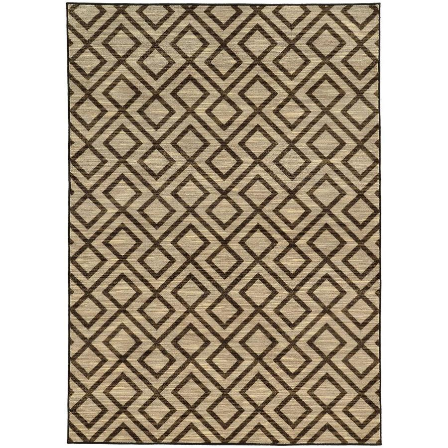 Archer Lane Galberry Beige Rectangular Indoor Machine-Made Area Rug (Common: 4 x 6; Actual: 3.25-ft W x 5.42-ft L)