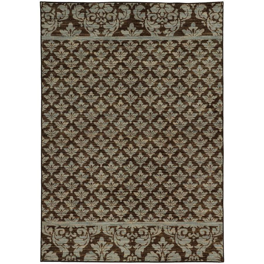 Archer Lane Jamieson Brown Rectangular Indoor Machine-Made Area Rug (Common: 8 x 11; Actual: 7.83-ft W x 10.83-ft L)
