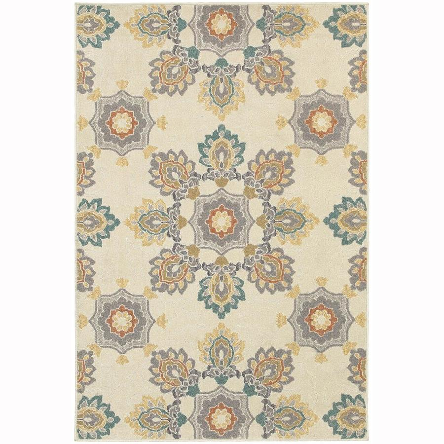 Archer Lane Abernathy Ivory Indoor Area Rug (Common: 7 x 10; Actual: 6.58-ft W x 9.5-ft L)