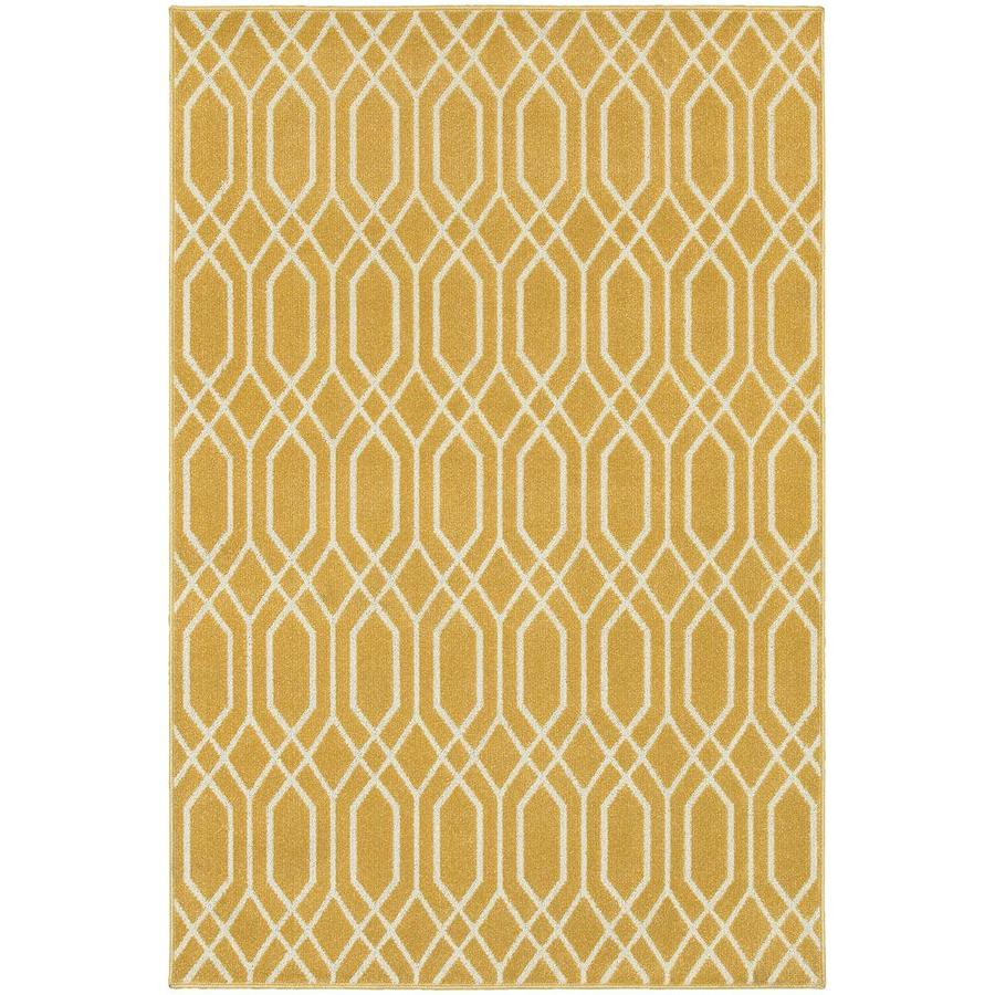 Archer Lane Baines Gold Indoor Area Rug (Common: 5 x 8; Actual: 5.25-ft W x 7.5-ft L)