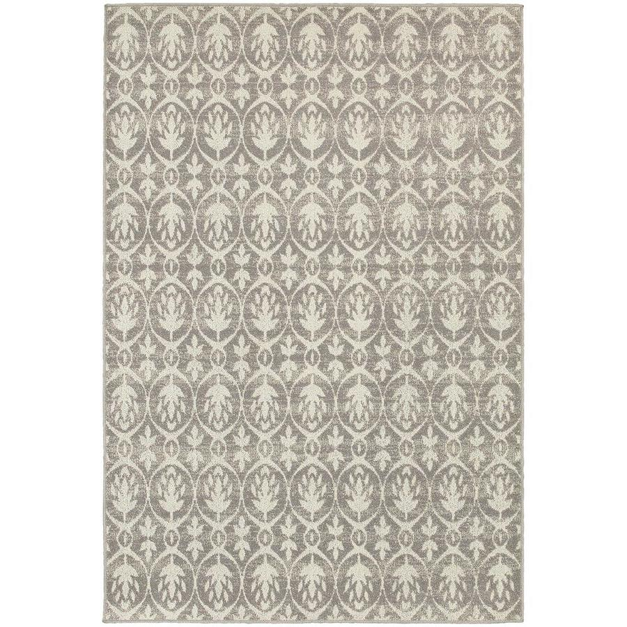 Archer Lane Caine Gray Indoor Area Rug (Common: 5 x 8; Actual: 5.25-ft W x 7.5-ft L)