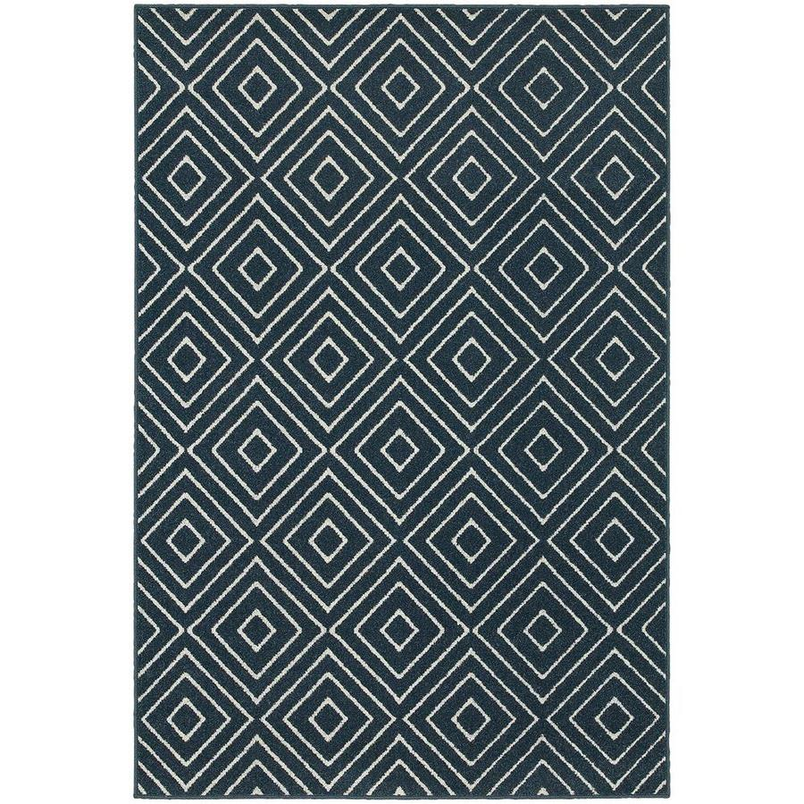 Archer Lane Eastern Navy Indoor Area Rug (Common: 5 x 8; Actual: 5.25-ft W x 7.5-ft L)