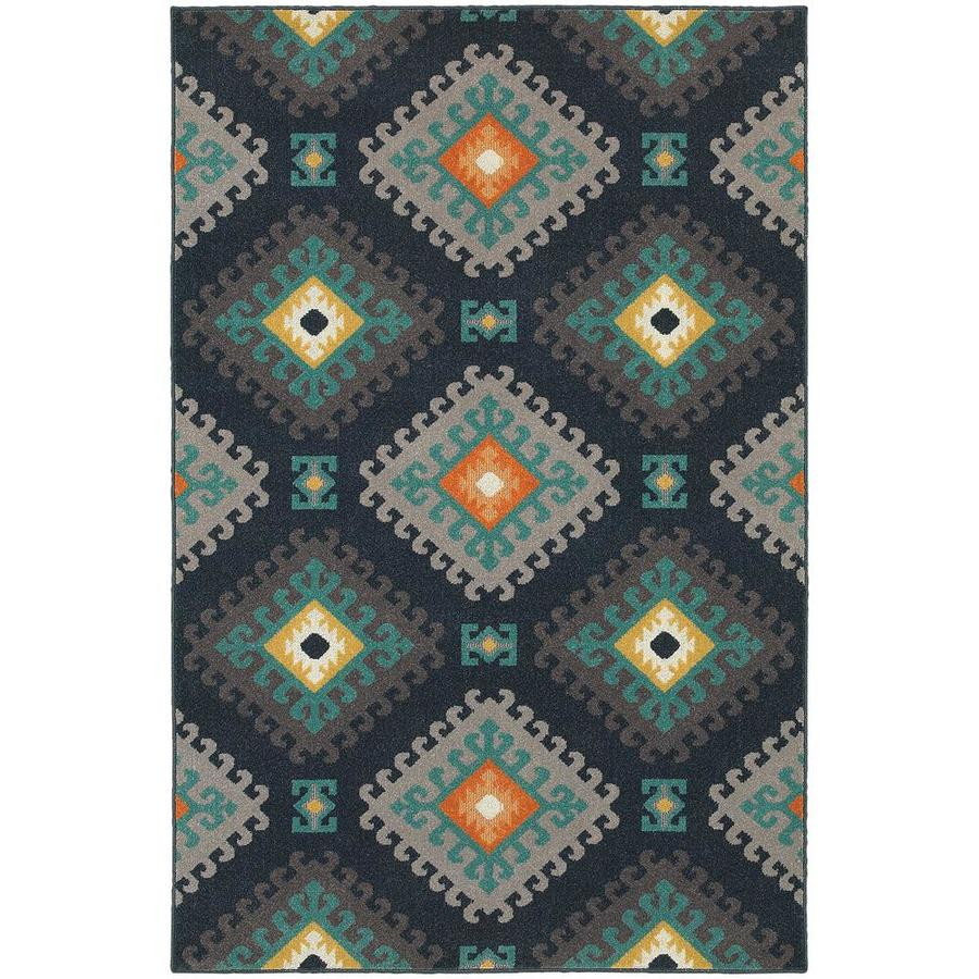 Archer Lane Fairdale Navy Rectangular Indoor Machine-Made Area Rug (Common: 8 x 11; Actual: 7.83-ft W x 10.83-ft L)