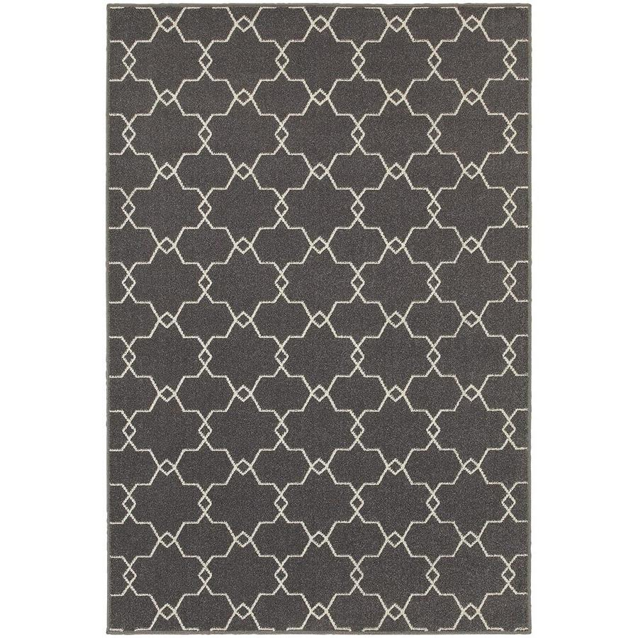 Archer Lane Idris Gray Rectangular Indoor Machine-Made Area Rug (Common: 3 x 5; Actual: 3.25-ft W x 5-ft L)