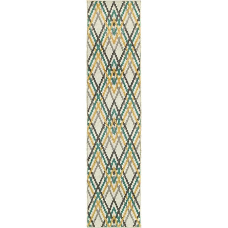 Archer Lane Jane Ivory Rectangular Indoor Machine-Made Runner (Common: 2 x 8; Actual: 1.83-ft W x 7.5-ft L)