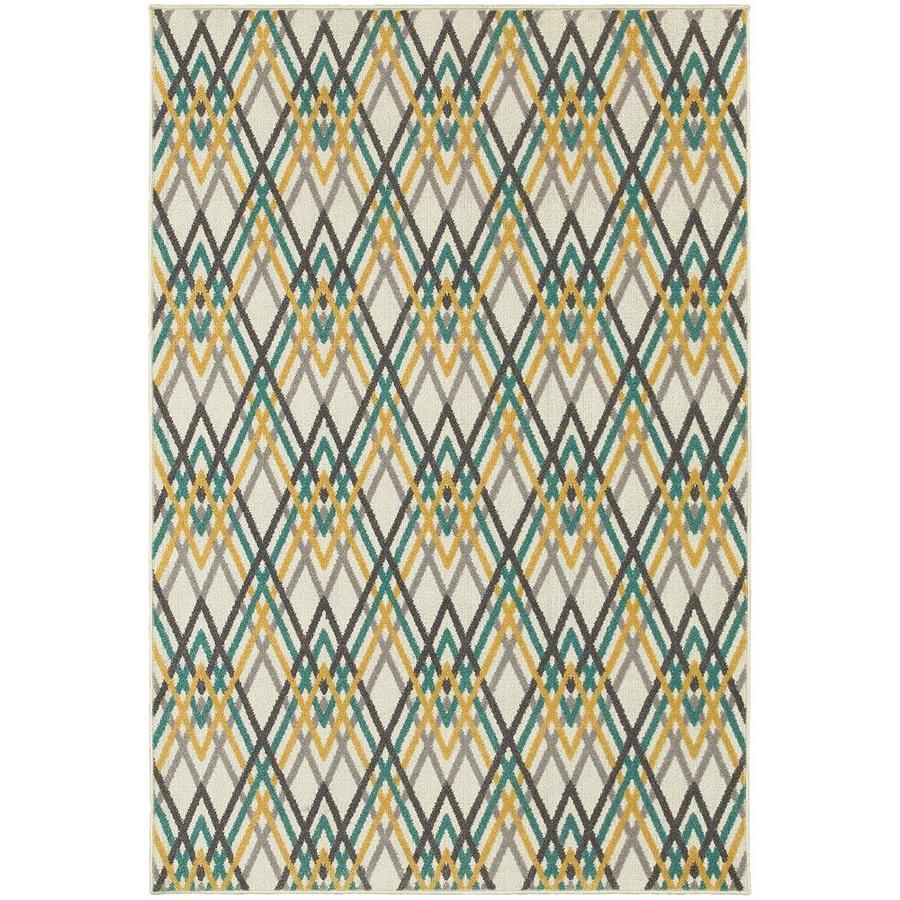 Archer Lane Jane Ivory Indoor Area Rug (Common: 5 x 8; Actual: 5.25-ft W x 7.5-ft L)