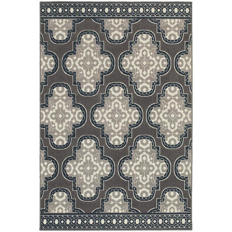 Archer Lane Karrville Gray Rectangular Indoor Machine-Made Area Rug (Common: 5 x 8; Actual: 5.25-ft W x 7.5-ft L)