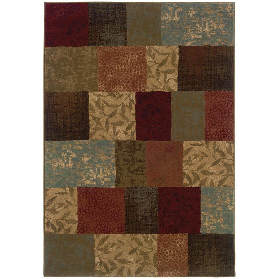 Archer Lane Abington Green Indoor Area Rug (Common: 5 x 8; Actual: 5.25-ft W x 7.5-ft L)