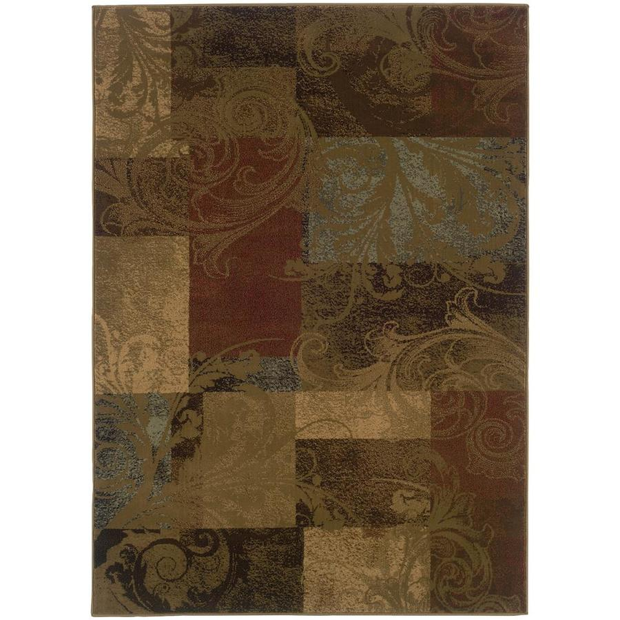Archer Lane Bainwick Green Rectangular Indoor Machine-Made Area Rug (Common: 5 x 8; Actual: 5.25-ft W x 7.5-ft L)