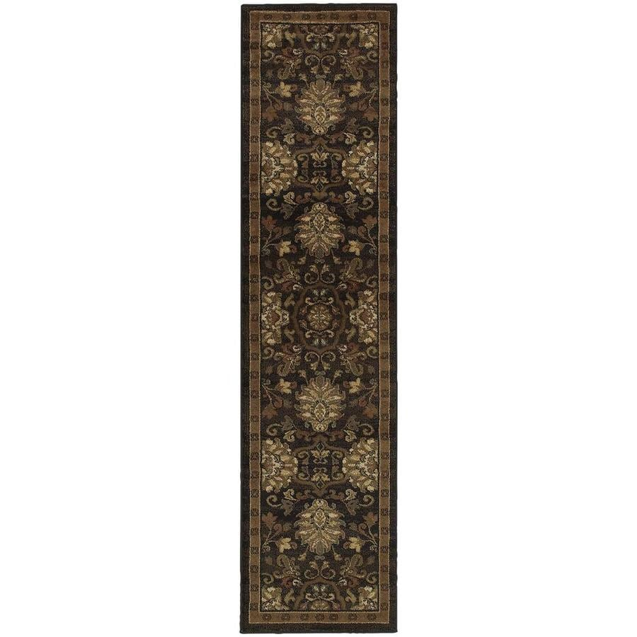 Archer Lane Dalmally Brown Indoor Oriental Runner (Common: 2 x 8; Actual: 1.83-ft W x 7.5-ft L)
