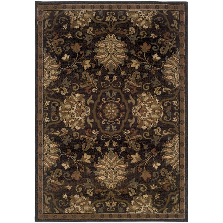 Archer Lane Dalmally Brown Indoor Oriental Area Rug (Common: 8 x 11; Actual: 7.67-ft W x 10.83-ft L)