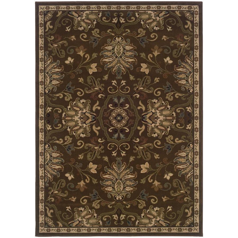 Archer Lane Dalmally Green Indoor Oriental Area Rug (Common: 8 x 11; Actual: 7.67-ft W x 10.83-ft L)