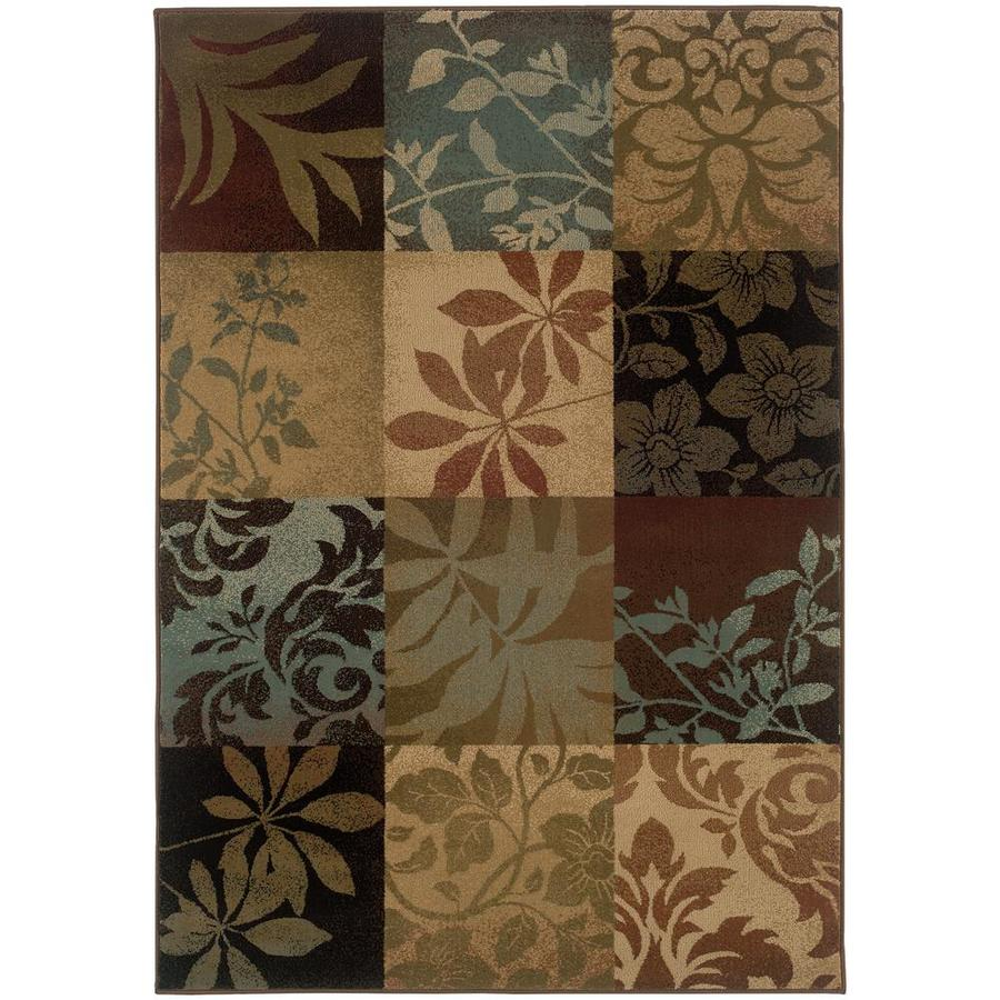 Archer Lane Eaton Green Indoor Area Rug (Common: 5 x 8; Actual: 5.25-ft W x 7.5-ft L)