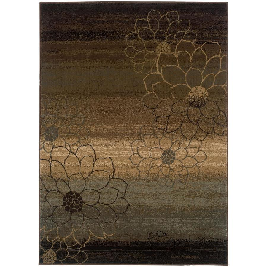 Archer Lane Fairland Brown Rectangular Indoor Machine-Made Area Rug (Common: 5 x 8; Actual: 5.25-ft W x 7.5-ft L)