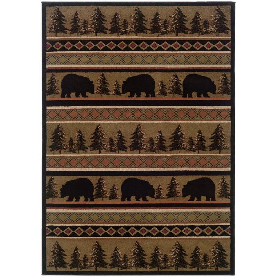 Archer Lane Illinois Black Indoor Southwestern Area Rug (Common: 5 x 8; Actual: 5.25-ft W x 7.5-ft L)