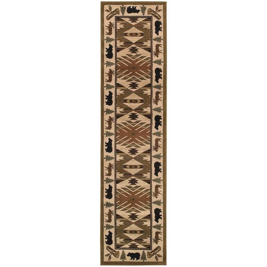 Archer Lane Kasting Ivory Indoor Southwestern Runner (Common: 2 x 8; Actual: 1.83-ft W x 7.5-ft L)