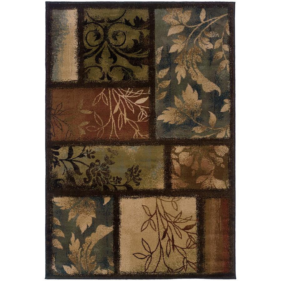 Archer Lane Macculloch Brown Rectangular Indoor Machine-Made Area Rug (Common: 8 x 11; Actual: 7.67-ft W x 10.83-ft L)