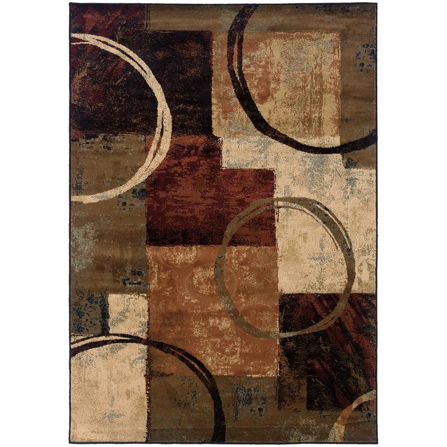 Archer Lane Nantucket Brown Indoor Area Rug (Common: 5 x 8; Actual: 5.25-ft W x 7.5-ft L)