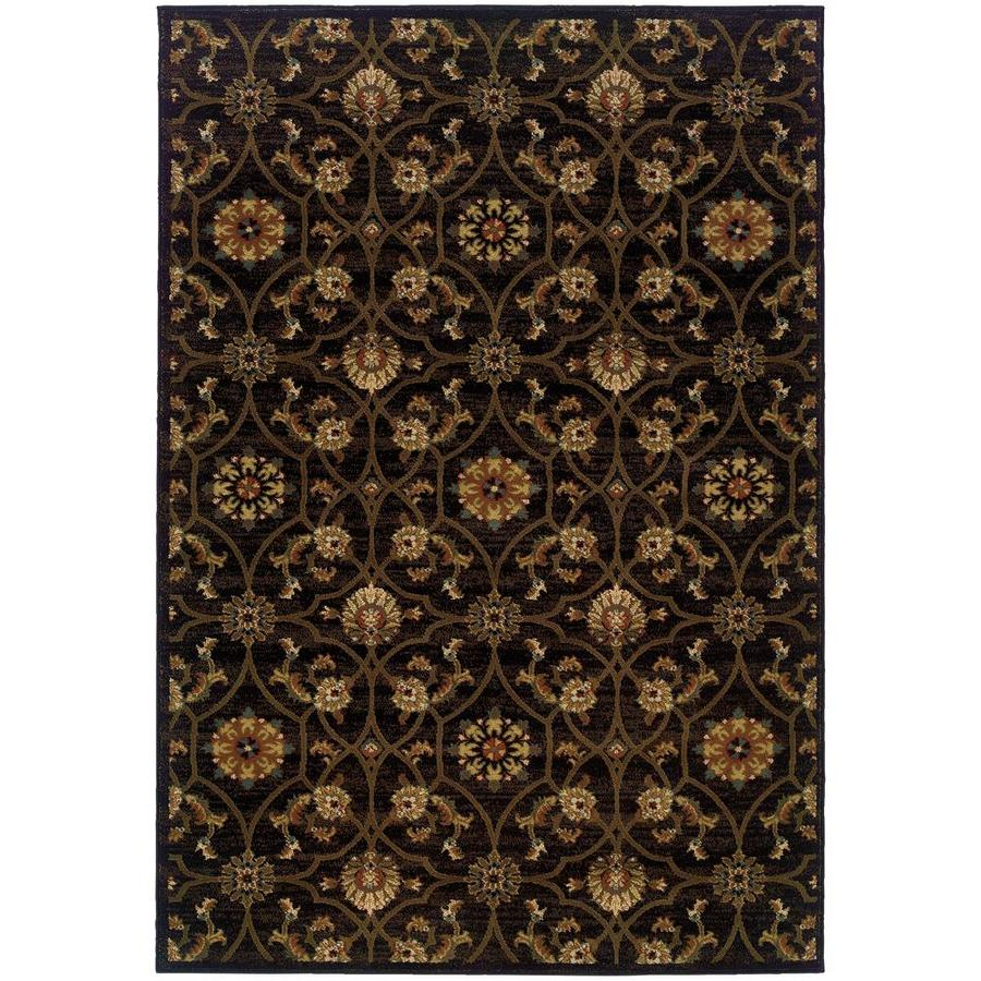 Archer Lane Quannah Black Indoor Area Rug (Common: 5 x 8; Actual: 5.25-ft W x 7.5-ft L)