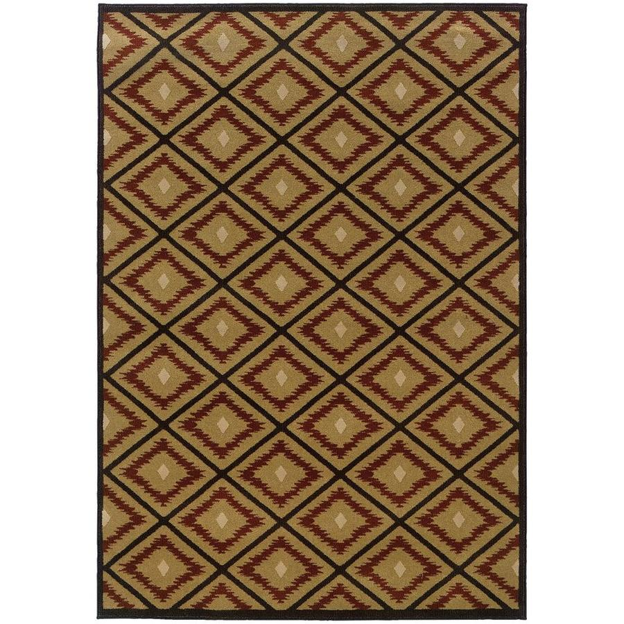 Archer Lane Radford Gold Indoor Area Rug (Common: 4 x 5; Actual: 4.17-ft W x 5.42-ft L)